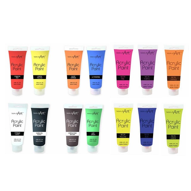 120ml Acrylic Paint Tubes Lots Of Colours