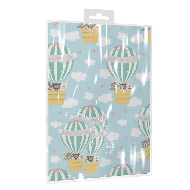"""Super Cute """"Hello Little One"""" Baby Wrap & Tags Set"""