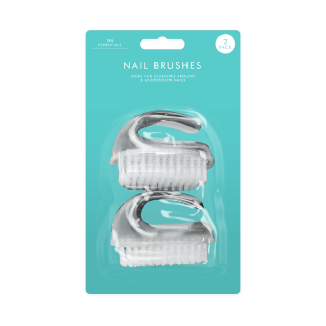 Pack Of 2 Nail Brushes Scrub Brush With Handle Scrubbing Cleaning