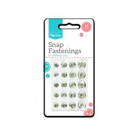 20 Sew on Snap Fasteners Fastenings 4 Assorted Sizes