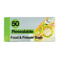 2 x Packs Of Resealable Food And Freezer Bags 100 In Total 17 x 19cm