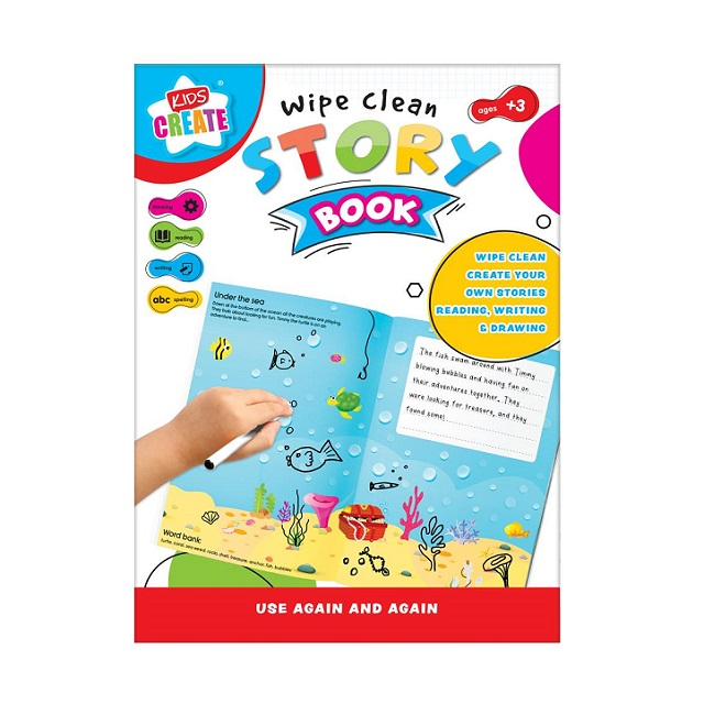 Kids Create Wipe Clean Create Your Own Story Book