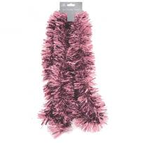 Traditional Xmas Tree Tinsel Blush Pink 2 Meters