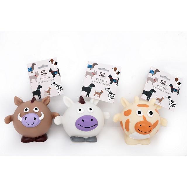 12cm x 10cm Dog Pet Squeaky Fun Animal Toy