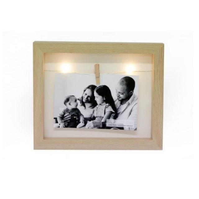 LED Peg Wooden Photo Frame 4 x 6