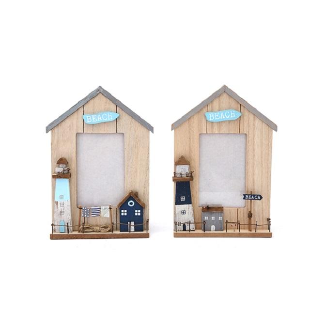 Stunning Beach House Hut Picture Photo Frame 3D Effect 10cm x 15cm