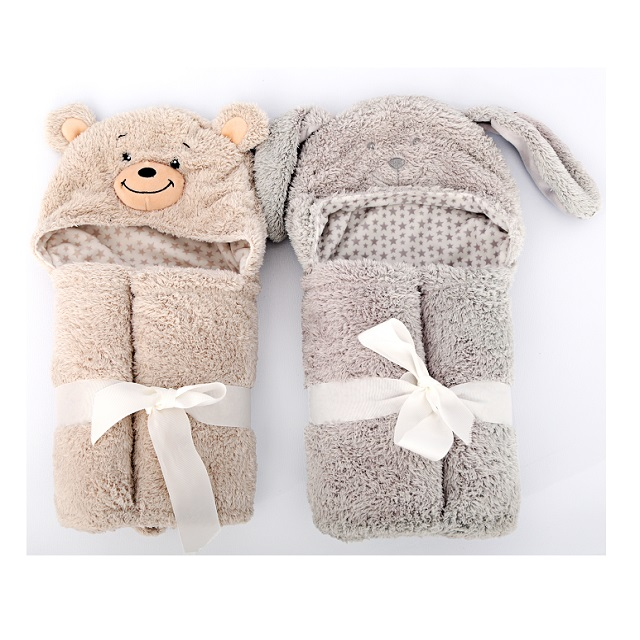 Beautiful Neutral Colours Hooded Baby / Child Bath Wrap