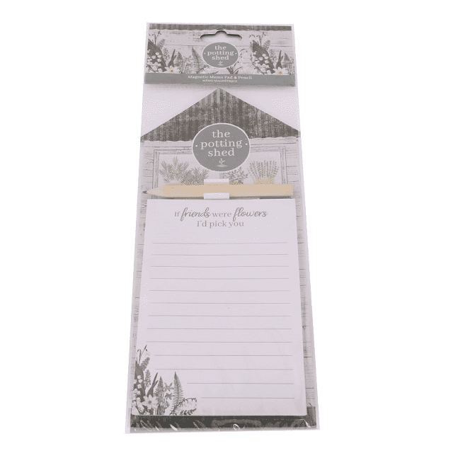 The Potting Shed Design Magnetic Memo Pad & Pencil Fridge Magnet Shopping List