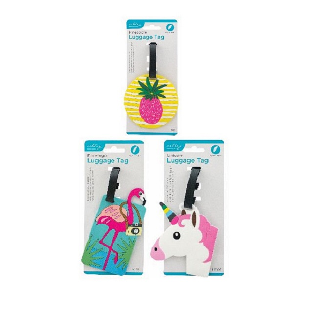 Flamingo ,Pineapple Or Unicorn Luggage Tag Tags