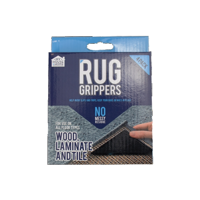 4 Pcs Rug Grippers Non Slip Mat Rubber Carpet Corner Grips