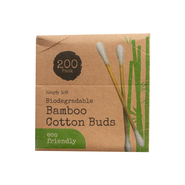 200 Pack Bamboo Cotton Buds Eco Friendly