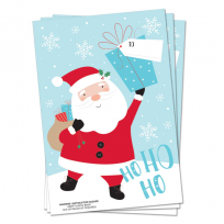 A Pack Of 3 Strong PVC Santa Sacks 30 x 20 Inches Perfect For Presents
