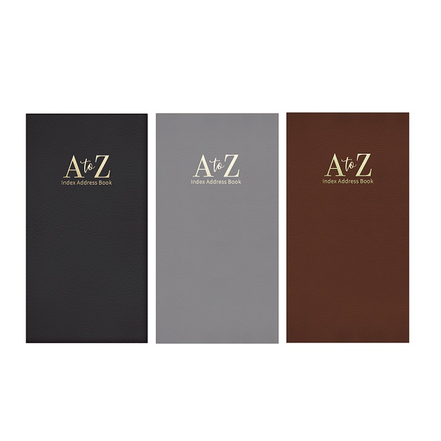 Slim Size Leather Look Padded A - Z Index Address Book