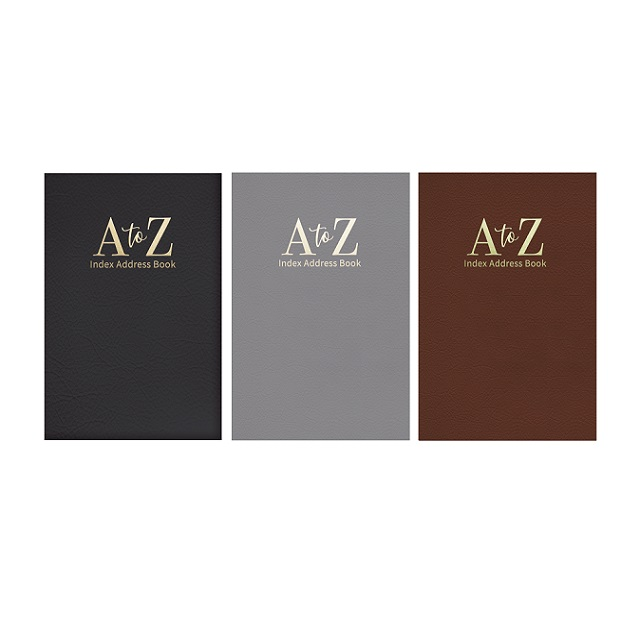 Super Slim Size Leather Look Padded A - Z Index Address Book