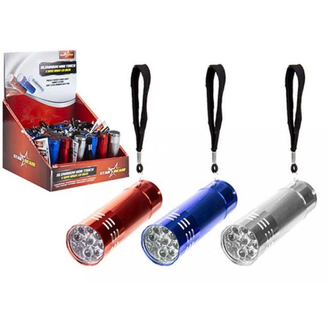 Aluminium 9 LED Mini Pocket Flashlight Torch