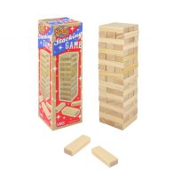 54 Piece Retro Stacking Tumbling Wood Block Game