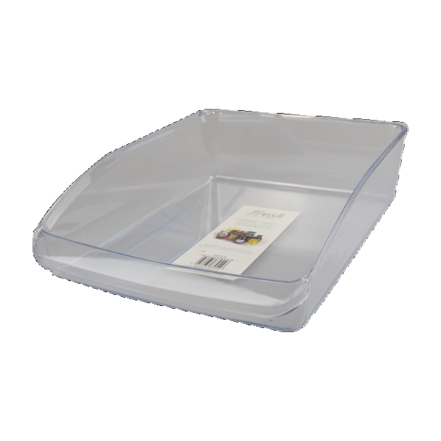 Clear Plastic Fridge Tray Storage Organiser Jars Etc