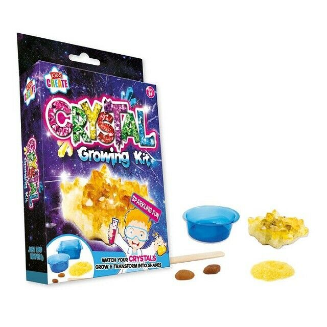 Children's Make Your Own Growing Crystals Charms Science Experiment Kit Set Toy